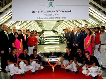 Skoda начала производство седана Rapid для индийского рынка