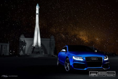 Тюнинг: Audi A5 Sportback Blue Chrome на колесах Vossen (Фотогалерея)