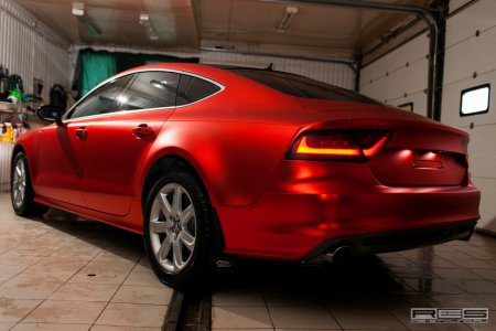 Тюнинг: Audi A7 в отделке Red Satin Chrome (Фотогалерея)