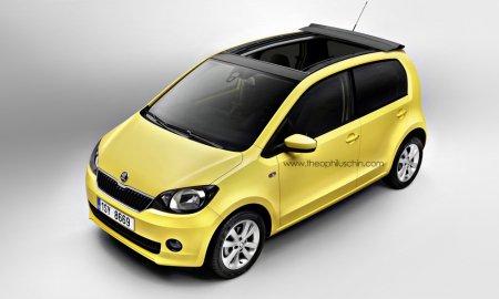 Рисунок VW Up! / Skoda Citigo / SEAT Mii в виде кабриолета