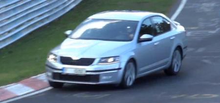 Новая Skoda Octavia RS в Нюрбургринге (Видео)