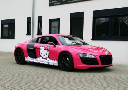 Розовый Audi R8 V10 Hello Kitty любит вас! [Фото]